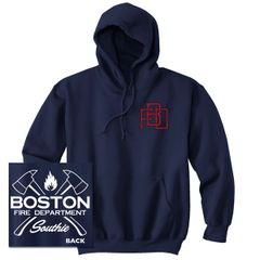 Boston Fire Dept. Interlock Sweatshirt NAVY