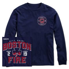 Boston Fire Brickhouse Long Sleeve Tee