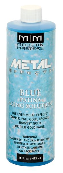 Metal Effects - Blue Patina Aging Solution 16 oz
