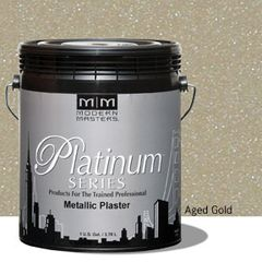 Platinum Series Metallic Plaster - Aged Gold Gallon