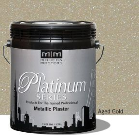 Platinum Series Metallic Plaster - Aged Gold Gallon