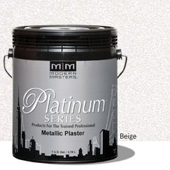 Platinum Series Metallic Plaster - Beige Gallon