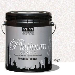 Platinum Series Metallic Plaster - Beige Gallon
