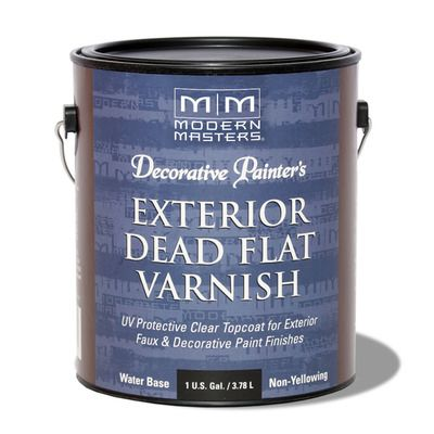 Decorative Painter's Exterior Dead Flat Varnish - Gallon