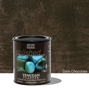 Venetian Plaster Pre-Mixed Master Palette - Dark Chocolate 32 oz