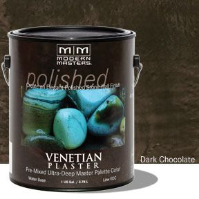 Venetian Plaster Pre-Mixed Master Palette - Dark Chocolate Gallon