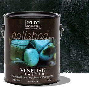 Venetian Plaster Pre-Mixed Master Palette - Ebony Gallon
