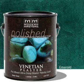 Venetian Plaster Pre-Mixed Master Palette - Emerald Gallon