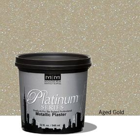 Platinum Series Metallic Plaster - Aged Gold 32 oz