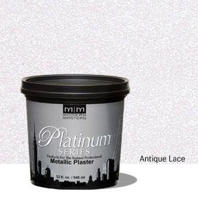Platinum Series Metallic Plaster - Antique Lace 32 oz