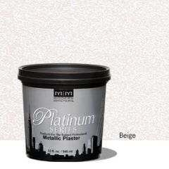 Platinum Series Metallic Plaster - Beige 32 oz