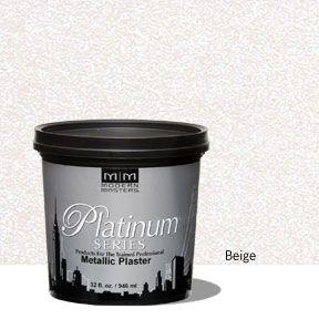Platinum Series Metallic Plaster - Beige 32 oz
