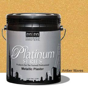 Platinum Series Metallic Plaster - Amber Waves Gallon