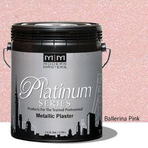 Platinum Series Metallic Plaster - Ballerina Pink Gallon