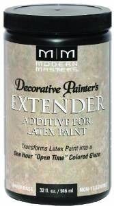 Decorative Painter's Extender for Latex Paint - 32 oz