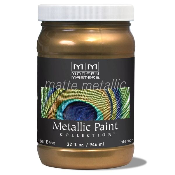 Matte Metallic Paint - Blackened Bronze 32 oz.