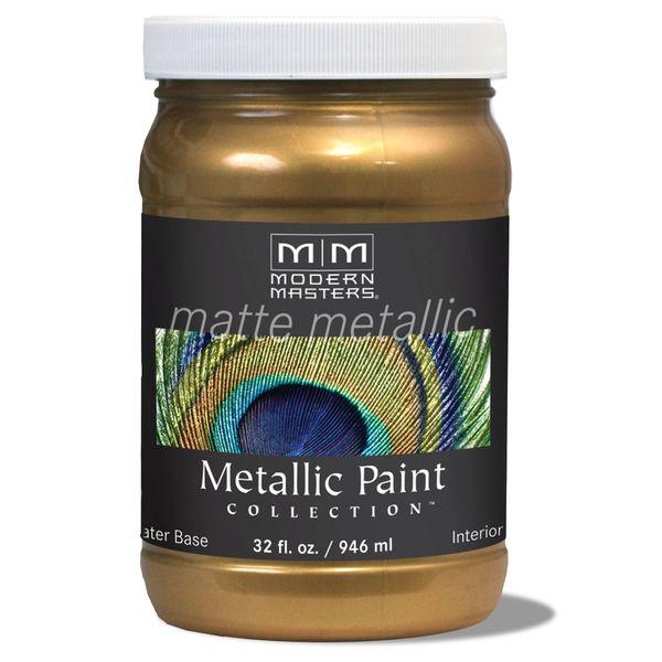 Matte Metallic Paint - Brass 32 oz.