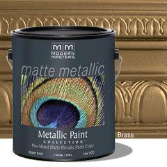 Matte Metallic Paint - Brass Gallon