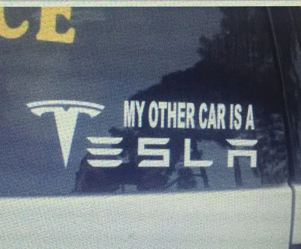 Tesla window sticker