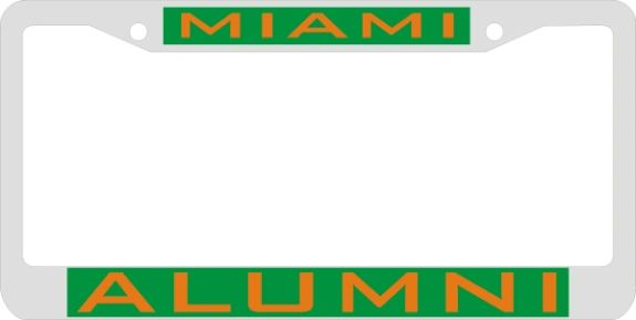 License Plate Frame, Miami Alumni