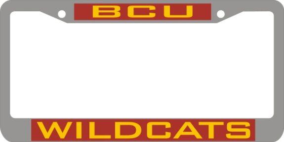 License Plate Frame Bcu Wildcats Hbcu Hbcu Historically