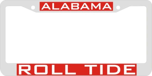 License Plate Frame, Alabama Roll Tide