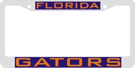 License Plate Frame, UF Gators