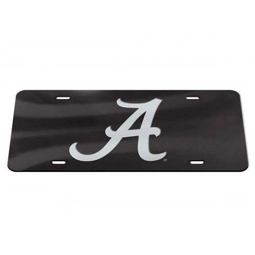 License Plate, Alabama, Black/Silver