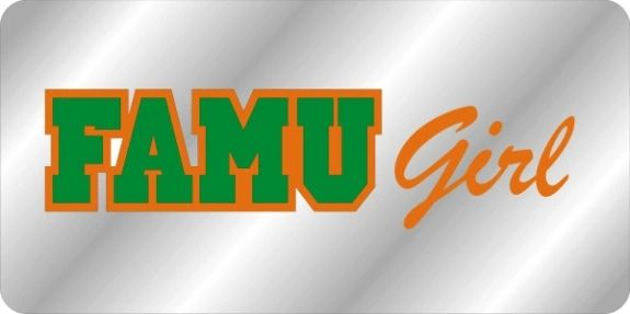 License Plate, FAMU Girl