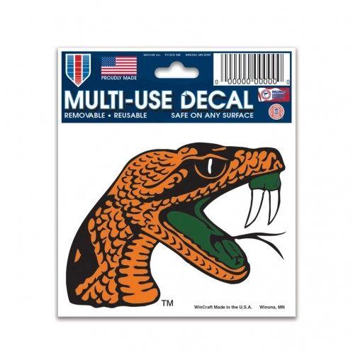 """DECAL, FAMU, RATTLER, MULTI-USE 3"""" X 4"""""""