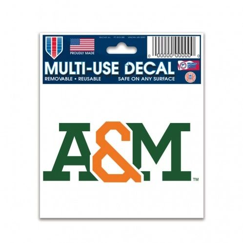 "DECAL, FAMU, A & M, MULTI-USE 3"" X 4"""