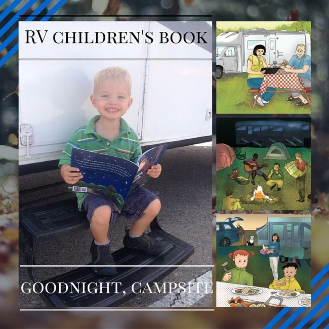 Kids camping book, RV gifts, gifts for RV campers, preschool camping books, kids books camping theme