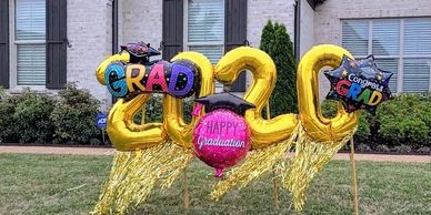 Birthday balloon yard sign art balloon marquee outdoor balloon milestone balloon grad balloons