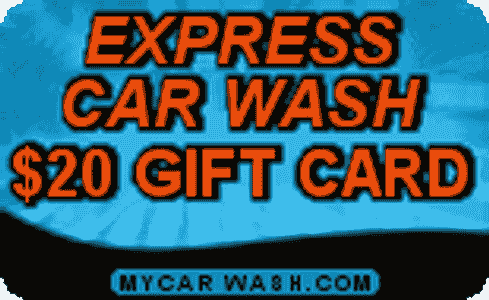$20 Express Car Wash Gift Card
