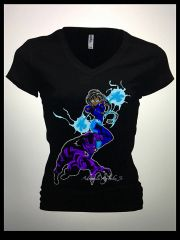 Black Panther and Storm2 Womens Tshirt