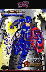 Captain AmericaV2 24in X 36in poster