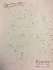 Artilery Pencil Sketch