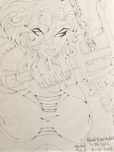 Elektra Pencil Sketch