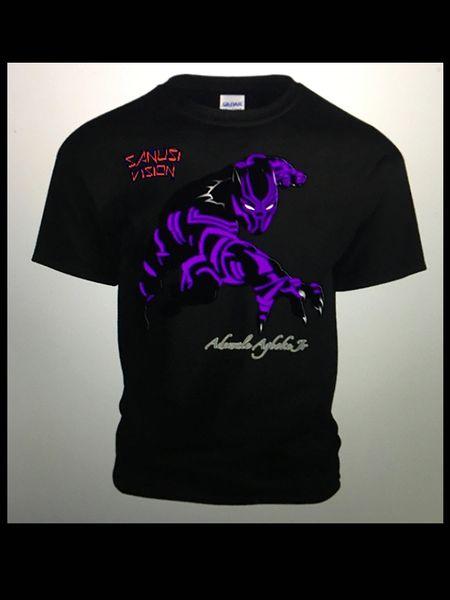 Black Panther limited edition custom Tshirt