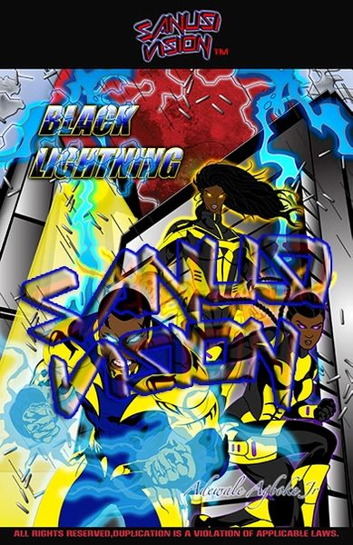 Black Lightning 13in x 19in poster