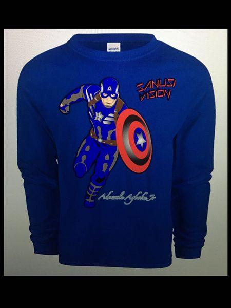 Captain America Long Sleeve Tshirt