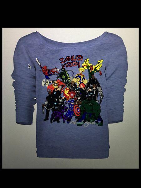 Avengers womens long sleeve tshirt