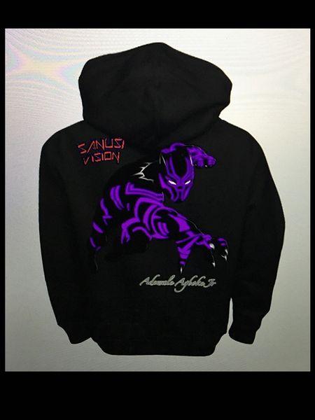 Black panther kids hoodie