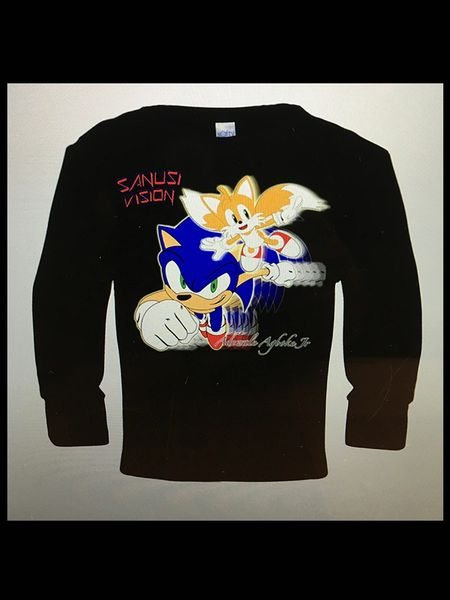 Sonic and tails kids long sleeve tshirt