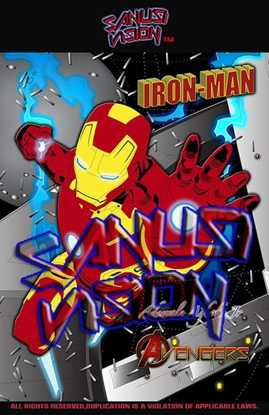 Ironman 16in x 20in canvas print