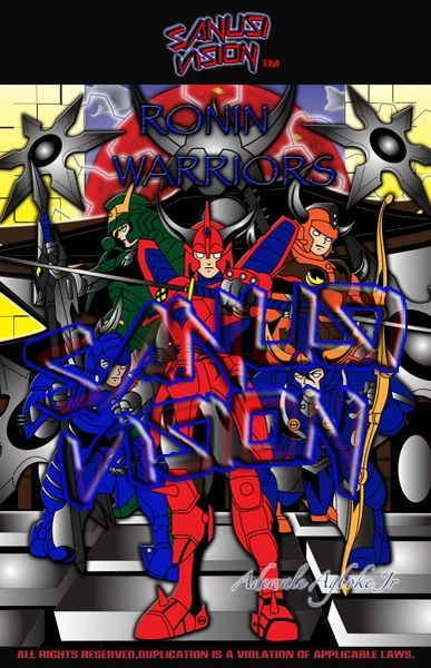 Ronin Warriors 16in x 20in canvas print
