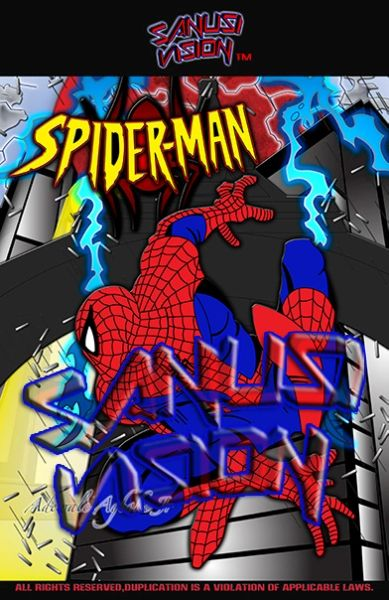 Spiderman 16in x 20in canvas print