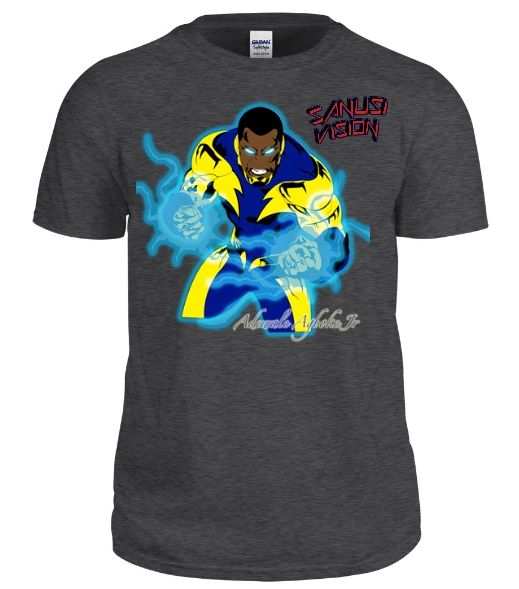 Black Lightning limited edition custom tshirt
