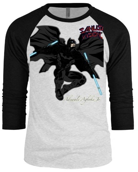 Batman baseball long sleeve tshirt