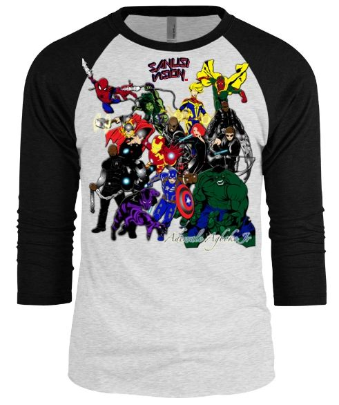 Avengers Baseball custom long sleeve Tshirt